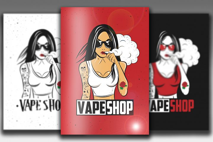12 Illustrations for Vape Shop