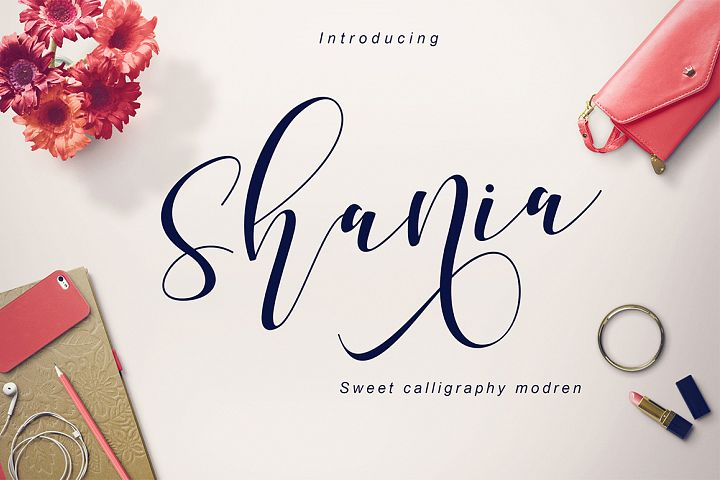 Shania Sweet Calligraphy Modern - Free Font of The Week