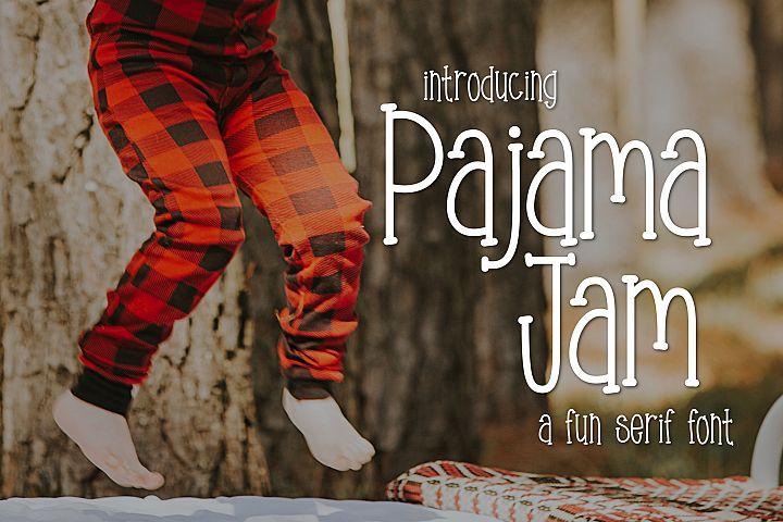 Pajama Jam a Fun Serif Font