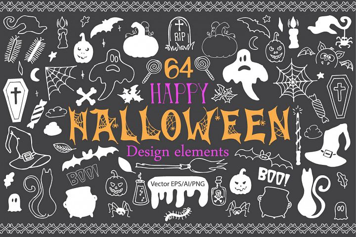 Halloween Doodle Vector clipart - Free Design of The Week