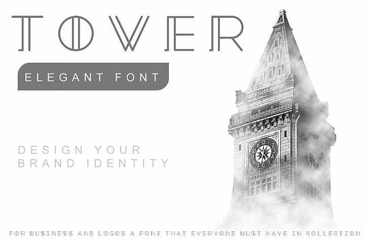 Tower - Minimal Brand Font