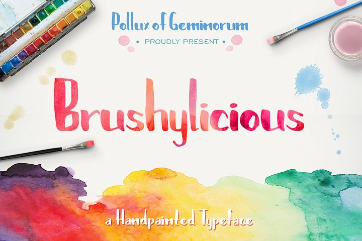 Brushylicious - Free Font of The Week