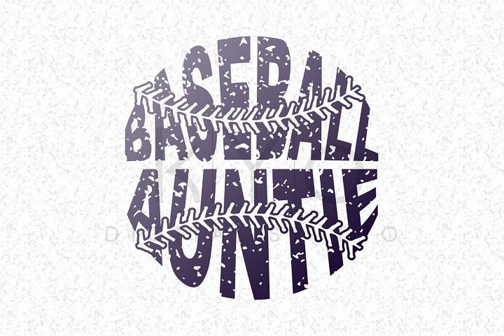 Baseball Auntie SVG baseball SVG Distressed Baseball stitches svg Baseball monogram svg distressed effect design Grunge Baseball tshirt svg