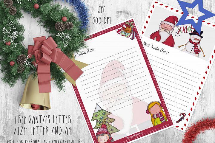 Santas letter printable