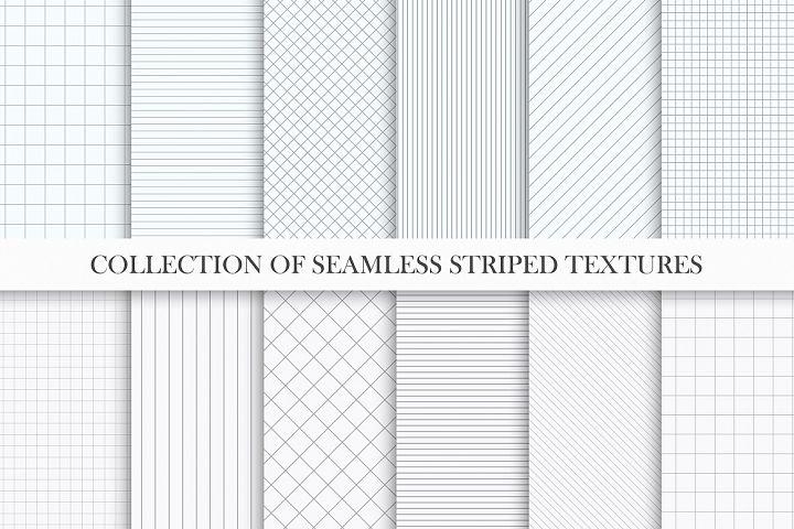Set of seamless striped textures