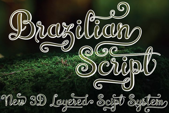 Brazilian Script (LAYERED FONT) - Free Font of The Week