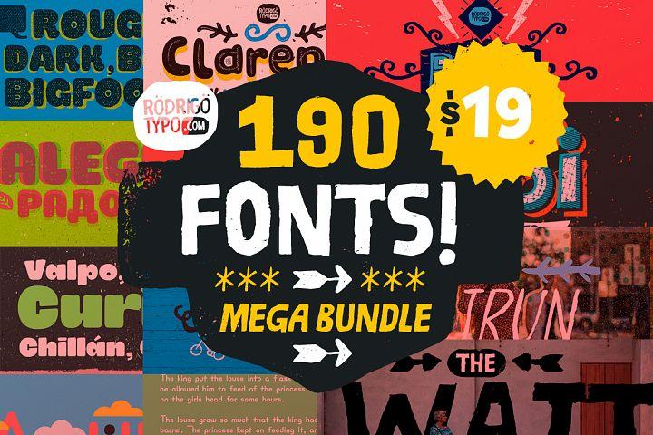 Mega Bundle 190 Fonts