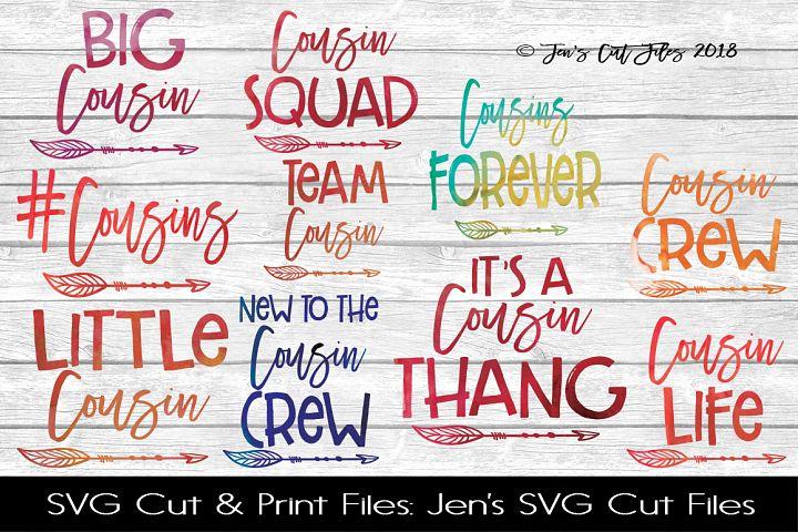 Cousins SVG Cut File BUNDLE
