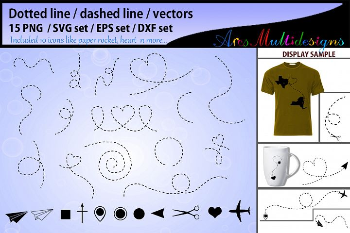 Dotted line svg vector / dashed line svg vector / dashed line / dotted line / paper plane svg / Heart Dashed Line - silhouette clipart