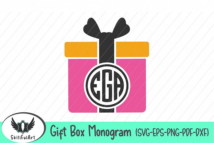 Gift Box monogram, cut files, monogrammed box