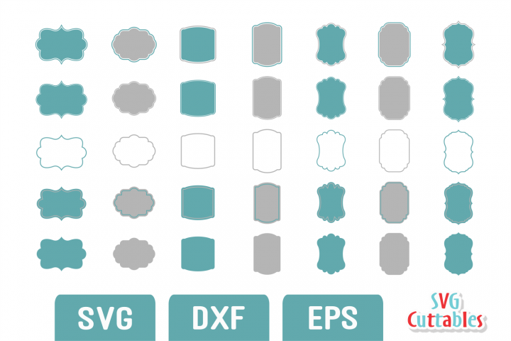 Frames SVG - Labels SVG set D