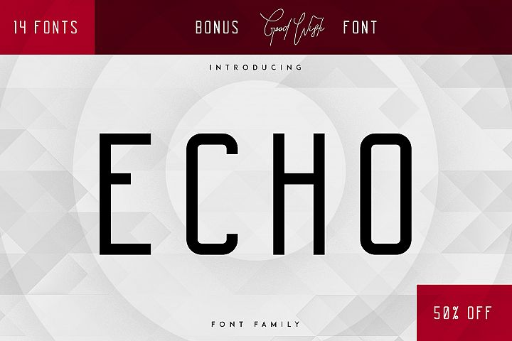 Echo 14 Font Family + Bonus