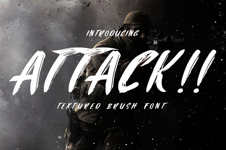 Attack Brush Font