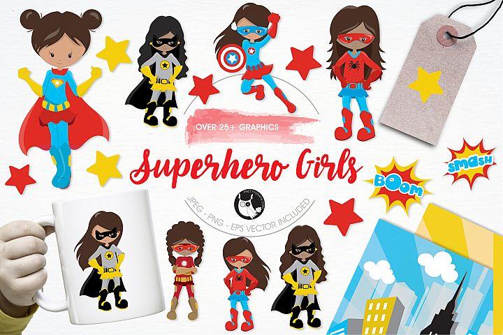 Superhero Girls  graphics and illustrations