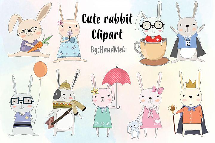 Cute rabbit Clipart