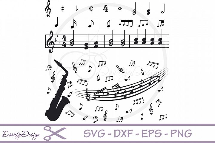 Music Notes SVG cut files
