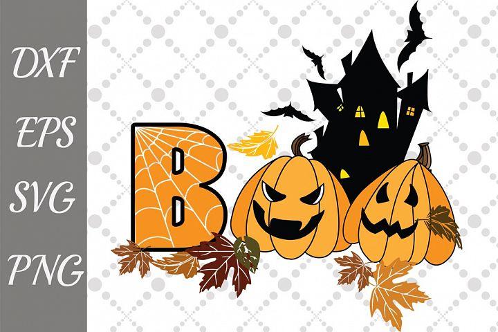 Boo Pumpkin Svg, HALLOWEEN SVG, Spider Web Svg