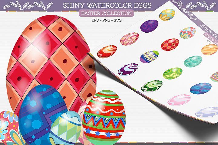 Shiny Watercolor Eggs