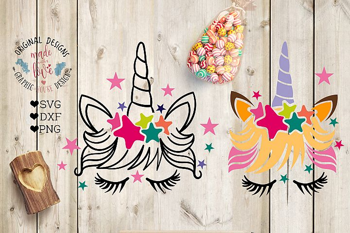 Unicorn Cut File in SVG, DXF, PNG