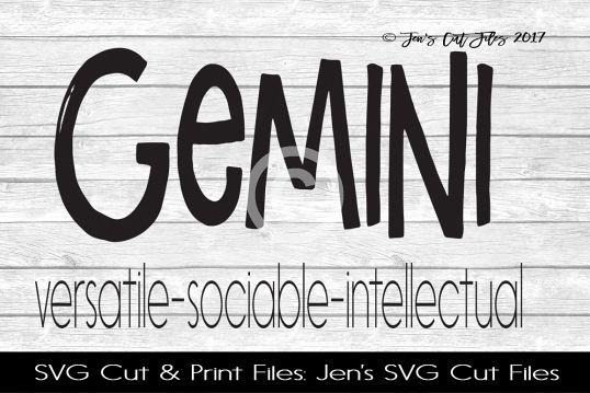 Gemini Zodiac SVG Cut File