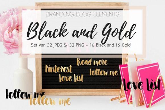 Blog elements - Black & Gold