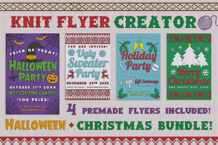 Christmas Knit Flyer Text Effect Creator