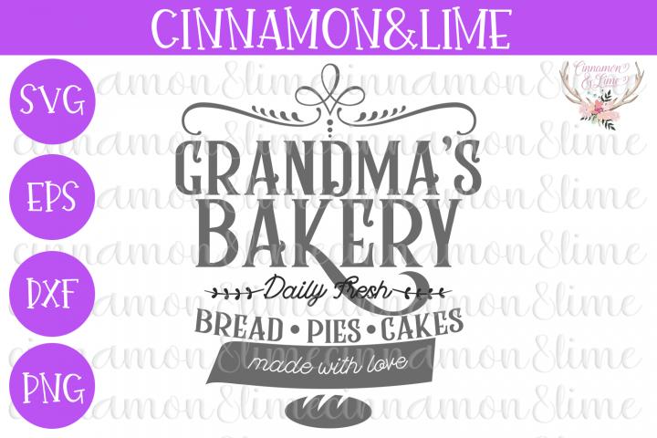 Grandmas Bakery Vintage Sign SVG
