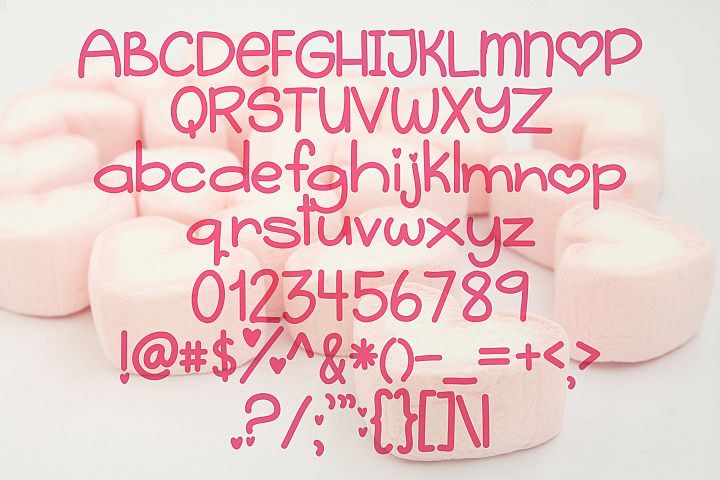 Sugar Heart - Free Font of The Week Design 1