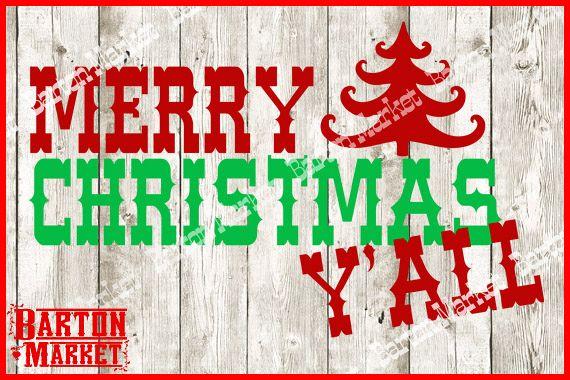 Merry Christmas Yall SVG V2
