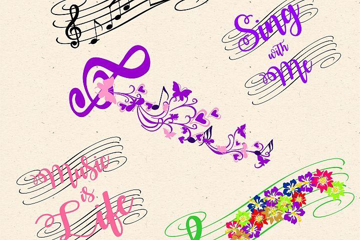 Music SVG EPS DXF PNG JPEG