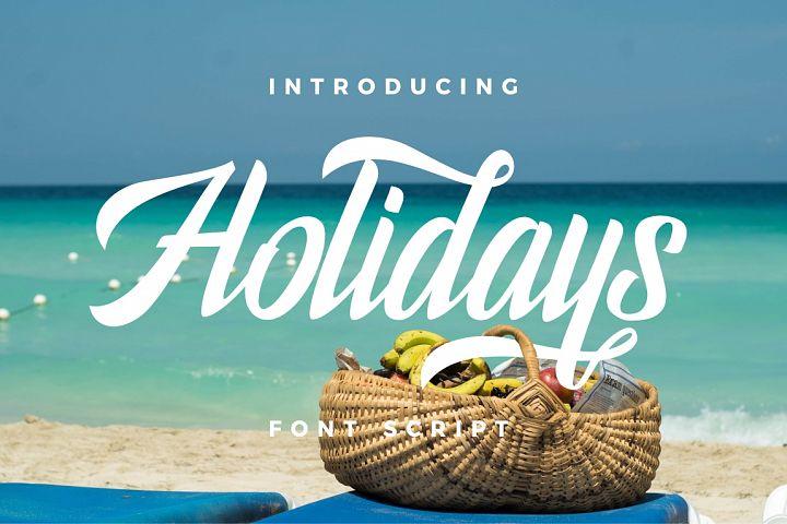 Holidays Typeface