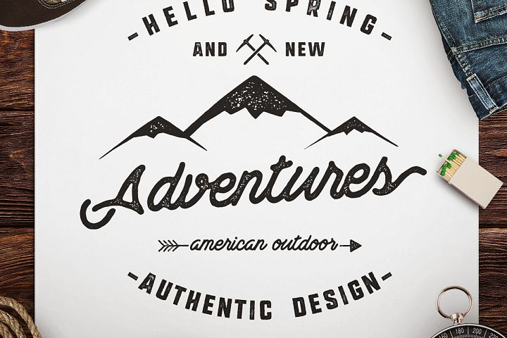 Adventure Awaits SVG Cut File, Camping Logo