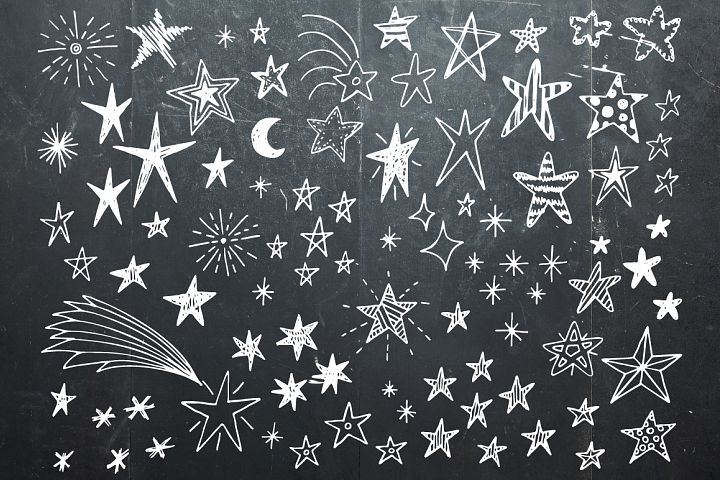 Hand drawn stars + frames