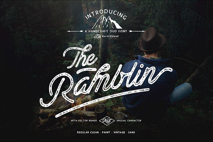 Ramblin Font Duo (15% OFF)