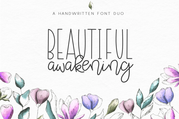 Beautiful Awakening - A Serif & Script Font Duo