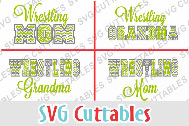Wrestling Mom / Grandma patterned