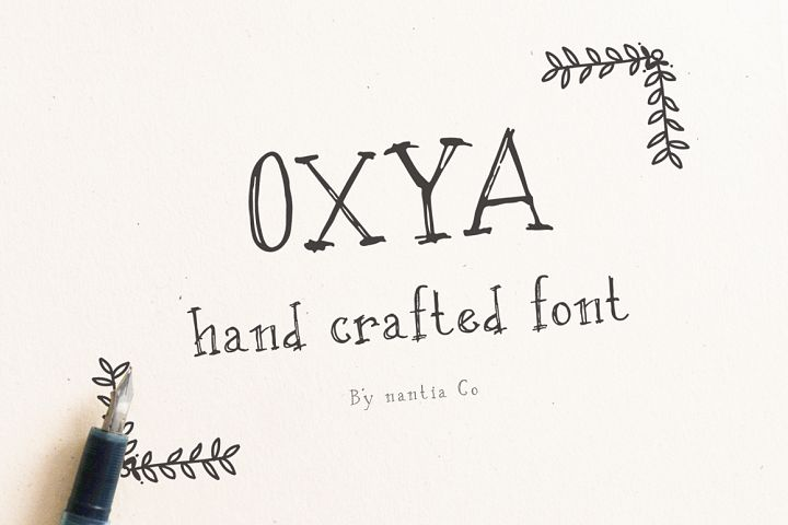 OXYA | Hand crafted Font