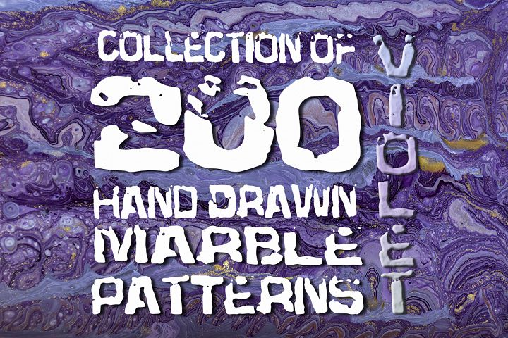 Set of 200 marble violet backgrounds