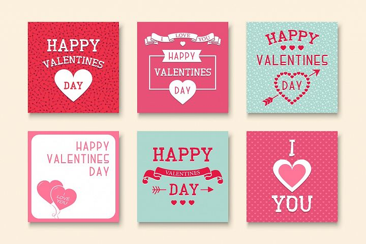 Greeting Valentine Cards.