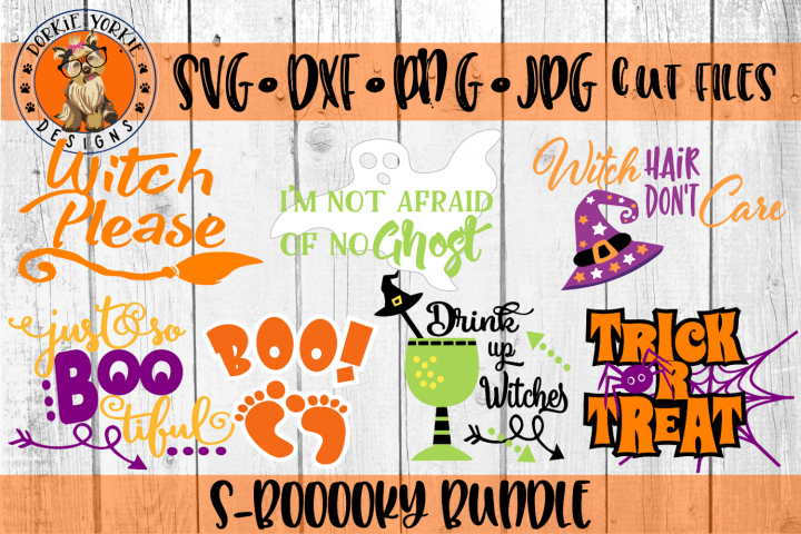 S-boooky Bundle - Halloween - Witch, Ghost- SVG Cut File