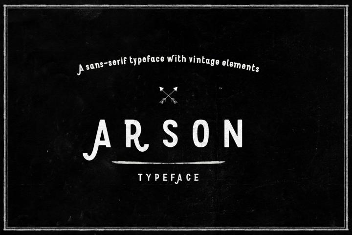 Arson Typeface