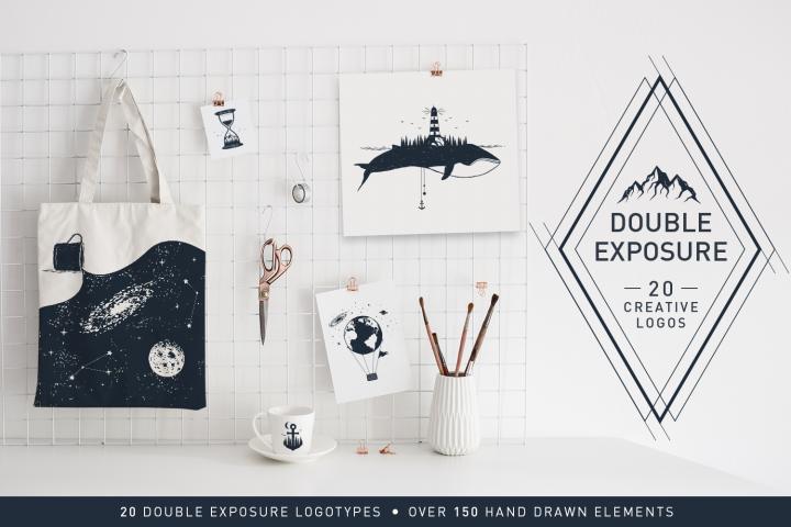 Double Exposure. 20 Creative Logos