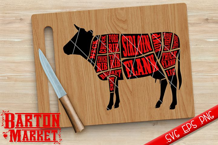Cow Butcher SVG / EPS / PNG
