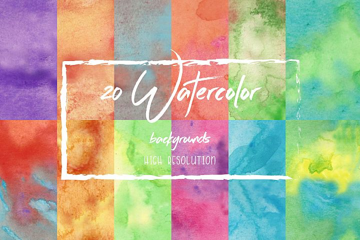 12 Watercolor Backgrounds High Resolution
