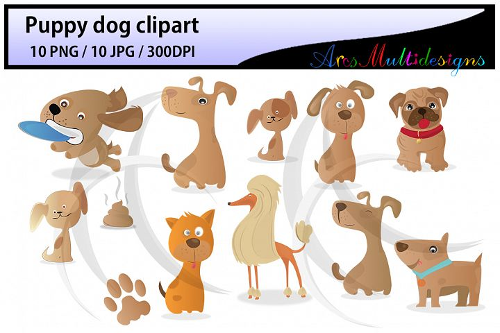 puppy dog clipart / Digital Clip Art for Scrapbooking Card Making Cupcake Toppers Paper Crafts / doodle dogs / puppy doodles / cute dogs