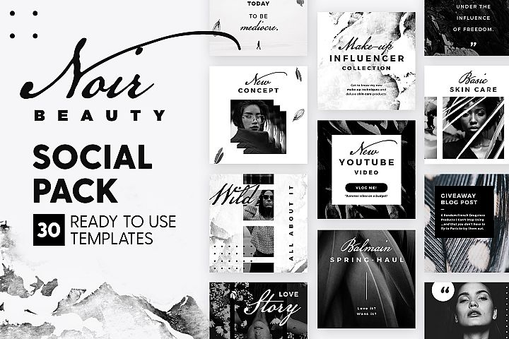 Noir Beauty - Social Pack