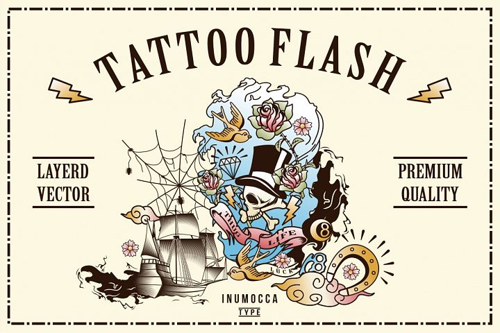 40 Tattoo Flash (full colors)
