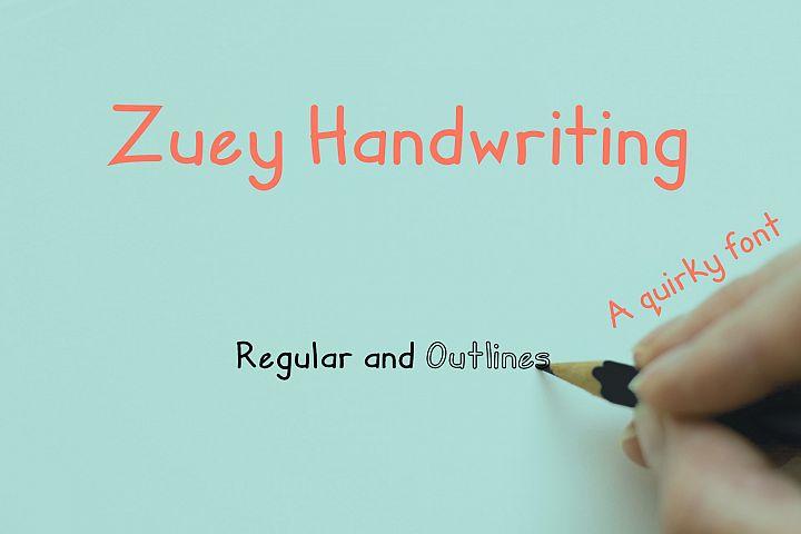 Zuey Handwriting