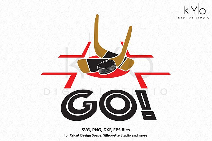 Ice Hockey puck drop SVG DXF PNG EPS files