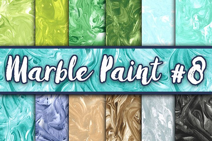 Marble Paint Textures - Set 8 - Green, Blue, Brown and Black